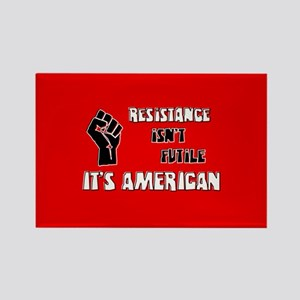 Resistance It's American Rectangle Magnet
